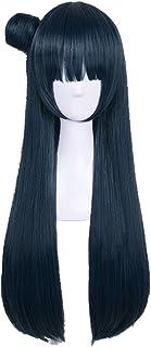 SUNXXCOS LoveLive ! Sunshine ! Aqours Full Hair Female Cosplay Wigs Have Feather (Tsushima Yoshiko) Indigo Blue