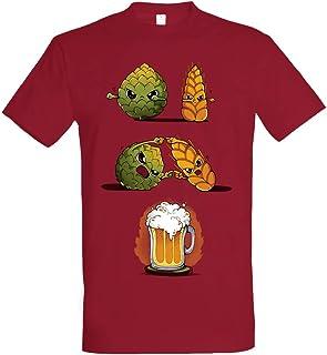 Pampling Camiseta Beer Fusion - Cerveza - Color Cranberry -