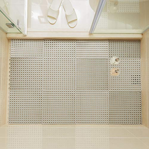 Cheap Bath mats antiscivolo Absorbent Floor Mat Stitching Shower Room Bathing Water Hollow Plastic F...
