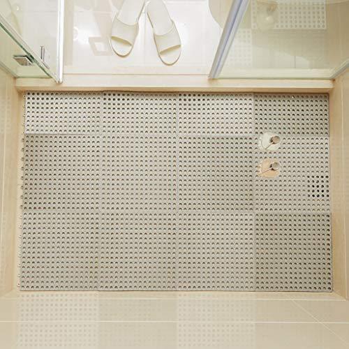 Why Choose Bath mats antiscivolo Absorbent Floor Mat Stitching Shower Room Bathing Water Hollow Plas...