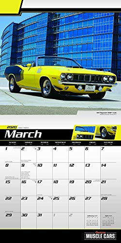 American Muscle Cars Calendar 2020 Muscle Cars Wall Calendar Bundle Includes Over 100 Calendar Stickers Photo #2
