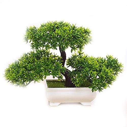 Rocita Künstliche Pflanzen Bonsai Simulation Bäume für Zuhause und Büro, grüne Blumen, Ornamente, dekorative Pflanzen, Willkommen, Kiefernholz, Simulationspflanzen (Grün