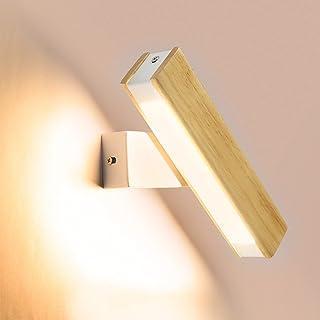 Wandlampe LED mit Schalter Leseleuchte Flurlampe Wandleuchter Glas schwenkbar