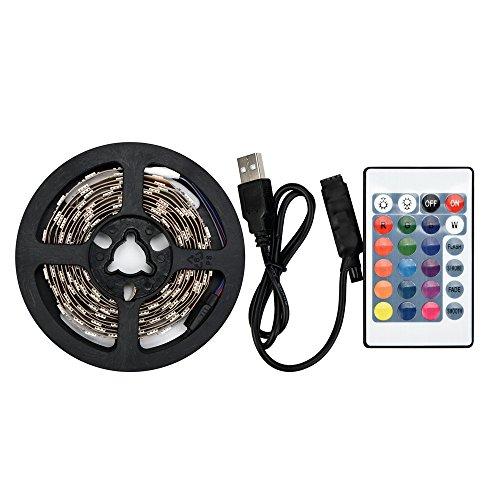 Led Strip USB 5050RGB Led Lichtband Led Band Led Strip TV Back Lampe Farbwechsel + Fernbedienungmit Led Beleuchtung für Fahrzeug/Fahrrad/Haus Deko (50CM)