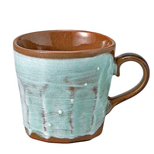 マグカップ 陶器/八窯変マグミント/コーヒー ホットミルク ココア 贈り物 プレゼント