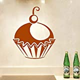 Se ve maravilloso Cupcake Wall Sticker Home Decor Kitchen And Lounge StickersVinyl Wall Decals Pattern Poster ~ 1 58 * 71cm