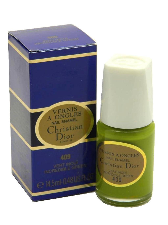 自慢陸軍批判的にDior Vernis A Ongles Nail Enamel Polish 409 Incredible Green(ディオール ヴェルニ ア オングル ネイルエナメル ポリッシュ 409 インクレディブルグリーン) [並行輸入品]