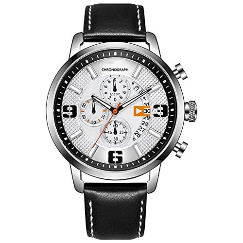 WNGJ Hombre Relojes, Reloj Deportivo Multifuncional Impermeable, Hombre Casual Reloj, con Indicador De Calendario Black