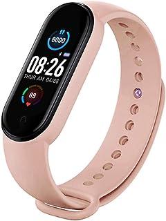 Horen M5 Smart Sport Band Fitness Tracker Podometer Bluetooth Smartband Pulseras Ip67 Impermeable Sport Smartwatch con Monitor de Sueño Adecuado para Mujeres Hombres