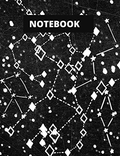 Constellation Notebook: Astronomy Constellation Campus Star Map College Ruled Notebook Journal Notepad
