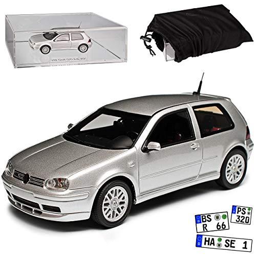 DNA Collectibles Volkwagen Golf IV G-T-I 3 Türer Silber Edition 25 Jahre 1997-2003 1/43 Modell Auto mit individiuellem Wunschkennzeichen