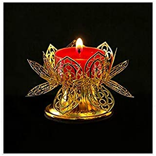 Shihua Lotus Birthday Light Cup Ghee Lamp Holder Candle Holder Tibetan Brass Butter Copper Oil Lamp Buddhist Supplies