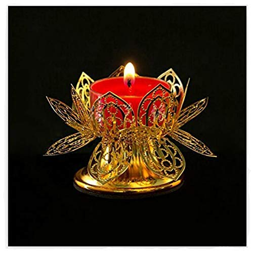 Shihua Home Decor Lotus Birthday Light Cup Ghee Lamp Candle Holder Tibetan Brass Butter Copper Oil Lamp Buddhist Supplies