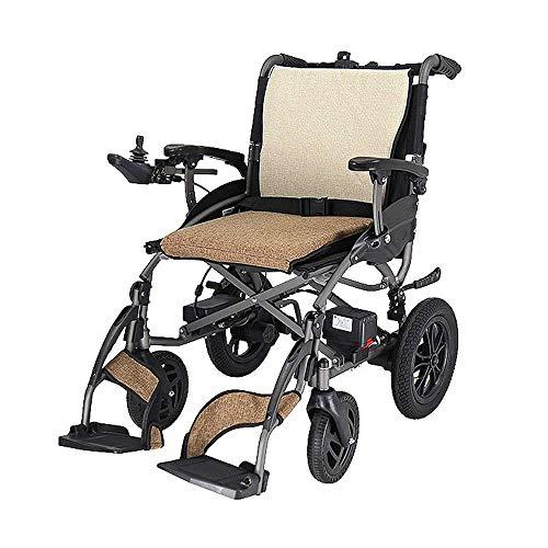 CHHD faltbare elektrische Rollstühle, elektrischer Aluminium-Leichtrollstuhl, Doppelfunktion kann in 1 Sekunde geöffnet werden, faltbare mobile Fußstütze, elektrischer oder manueller Busreisestuhl 17,