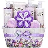 Geburtstagsgeschenk für Frauen,10-tlg. Geschenkebox für Frauen mit Rosenwasser und...