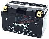 Elektra Battery Batteria Elektra YTZ10S-BS per Honda CBR 600 RR 2003-2006 12V 8,6 Ah con Acido