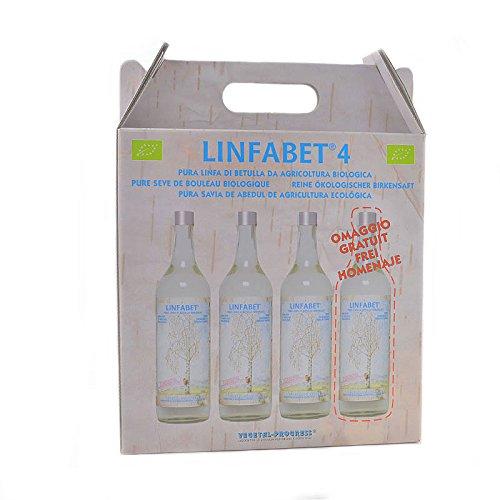 Linfabet - linfa di betulla BIO - 3 Bottiglie da 700ml (più 1 in omaggio)