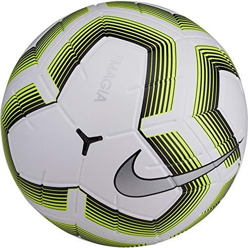 Nike Unisex– Erwachsene Team Magia II Fußball, White/Black/Volt/Black, 5