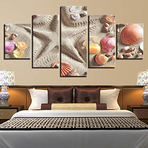 FOCAILAI Obra de Arte, Pintura de Pared Impresa en HD, 5 Piezas, Cuaderno, Lupa, Lienzo, Cuadros, póster Modular, decoración, Dormitorio, Estudio