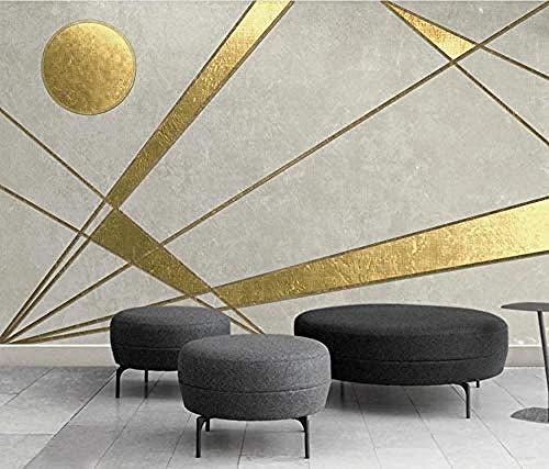 Tapete Golden Line Geometrisches Muster 3D Tapeten Schlafzimmer Wohnzimmer Tapeten Wanddekoration fototapete 3d Tapete effekt Vlies wandbild Schlafzimmer-430cm×300cm