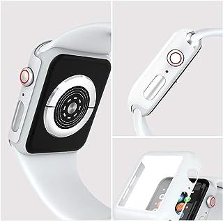 Witbot Apple Watch Series 3 38mm ケース, Apple Watch 3D全面保護カバー 超薄型液晶フィルム 日本旭硝子材 傷防止 耐衝撃PCフレーム 2020 新アップルウォッチシリーズ 3ケース 2枚(ホワイト)
