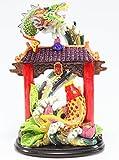 La cascata del drago Feng Shui per il successo e la perseveranza delle statue, statuette di ricchezza fortunata per la casa (cascata del cancello del drago LY027)