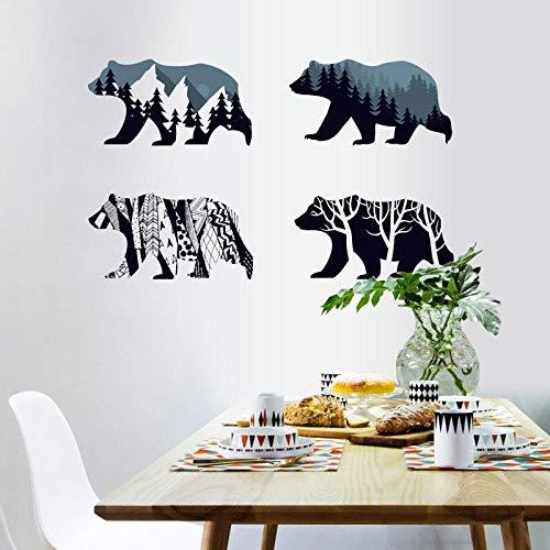 Polar Bear Silhouette Stickers Muraux Décoration De La Maison Salon Enfants Chambre Enfants Chambres Vinyle Meubles Stickers