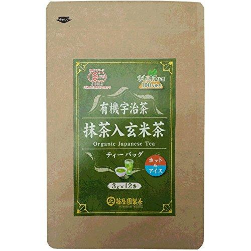 播磨園製茶 『有機宇治抹茶入玄米茶ティーバッグ 3g×12p』