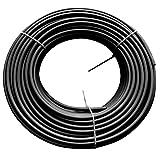 Beduan Pneumatic Nylon Tube SAEJ844Air Line NylonHose Tubing for Air Brake System or Fluid Transfer (1/4'OD, Black)