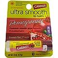 Carmex Ultra Smooth Lip Balm Stick SPF 15, Pomegranate 0.15 oz (Pack of 12)