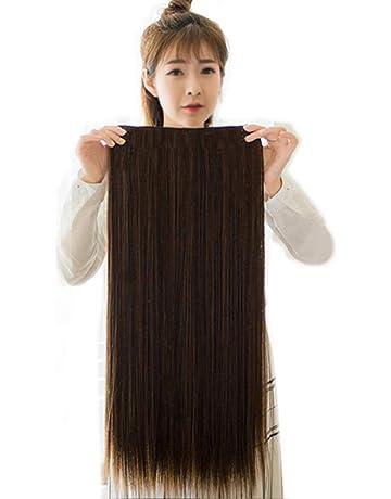 33ee057eccc483 DEEKA ポイントウィッグ ロング ストレート ワンタッチ エクステ グラデーション 襟足ウィッグ つけ毛