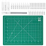 Cutting Mats for Crafts, Audab 9' x 12' Self-Healing Cutting Mat and Craft Knife kit with 30Pcs Hobby Blades...