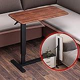 Comodino Mobile Nero/Bianco, Tavolo elevatore Pieghevole per Laptop, Divano Letto, tavolino dormitorio, scrivania pigra, Lenzuolo Impermeabile ad Alta densità, Resistente e Durevole