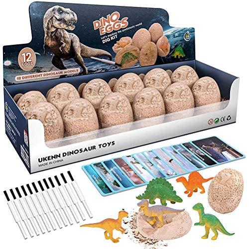 Kit de excavación de Huevos de Dinosaurio Kits de excavación de Dinosaurios Kits de excavación para niños Fiesta de Pascua Arqueología Paleontología Ciencia educativa Regalo