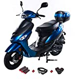 X-PRO 50cc Moped Scooter Gas Moped 50cc Scooter Street Bike (Blue)
