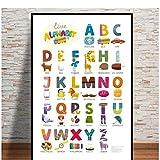 Modular Hd Prints Picture 1 Set Materiales de enseñanza para niños Decoración del hogar Pintura Lienzo Poster Arte de la pared para la sala de estar-50x70cm Sin marco