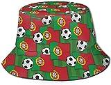 Bandera de Portugal Fútbol cubo con estampado unisex Sombreros de pescador pesca Gorra plegable reversible de verano Mujeres Hombres Sombrero para el...