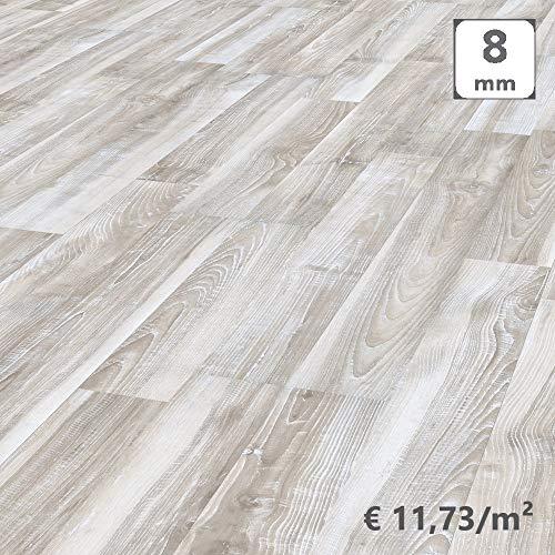 Kronotex, Pavimento Laminato Incastro, Frassino Stockholm Shabby, Scatola 2,131 m²/AC4. Spessore 8mm