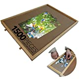 Wooden Puzzle Table Plateau, Portable Jigsaw Board with 4 Sliding Drawers, Best Puzzle Storage Holder System, Holds More Than 1500 Pieces