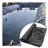 GDMING Teichfolie, 0.4mm Dicke Hohe Dichte PVC Teichfelle, Wasserdicht Reißfestigkeit Zum Koi-Teiche Wassergärten Brunnen, Anpassbar (Color : Black, Size : 3x8m)