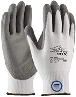 Protective Industrial Products X-Large White And Gray Great White 3GX Light wei Dyneema Diamond Blend Cut Resistant Glv With Knit Wrist And Polyurethane Coated Palm And Fingertips -12 Pair/Dozen