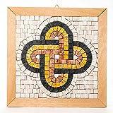 Idea regalo Aniversario Nudo de Salomón - Kit mosaico estilo romano 23x23 cm - Teselas mosaico mármol italiano - Mosaicos manualidades