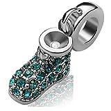 JMQJewelry Mother Grandma Gifts Charm for Bracelets Shoe December Birthstone Women Girl Jewelry