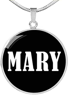 mary name necklace