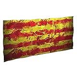 NANITHG Toalla de Playa,España Pintura Fondo Textura Barcelona Rayas Rojas Fondo Amarillo Salpicaduras Tinta Arte Abstracto,Deportes Toalla Secado Rápido 37x74in
