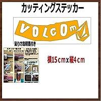 【①】VOLCOM ボルコム カッティング ステッカー (金, 15)
