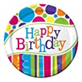 Creative Converting 8 Count Bright and Bold Happy Birthday Dinner Plates