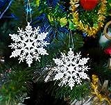 Schneeflocken Weihnachtsbaumschmuck Set,Weihnachtsbaum Anhänger,Schneeflocke Weihnachtsbaum Hängende Ornamente Schneeflocke Weihnachtsbaumschmuck Weihnachtsdeko (B)