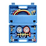 3 Way AC Diagnostic Manifold Gauge Set for Freon Charging, Fits R134A R12 R22 and R502 Refrigerants,...