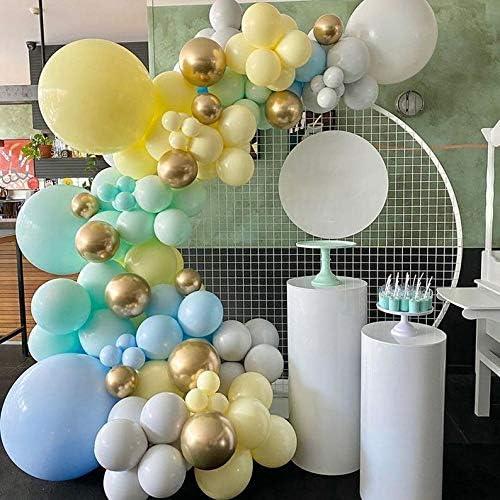 Yellow Blue Balloon Arch Garland Kit Macaron Blue Balloon Green Balloon Yellow Balloon Gray product image